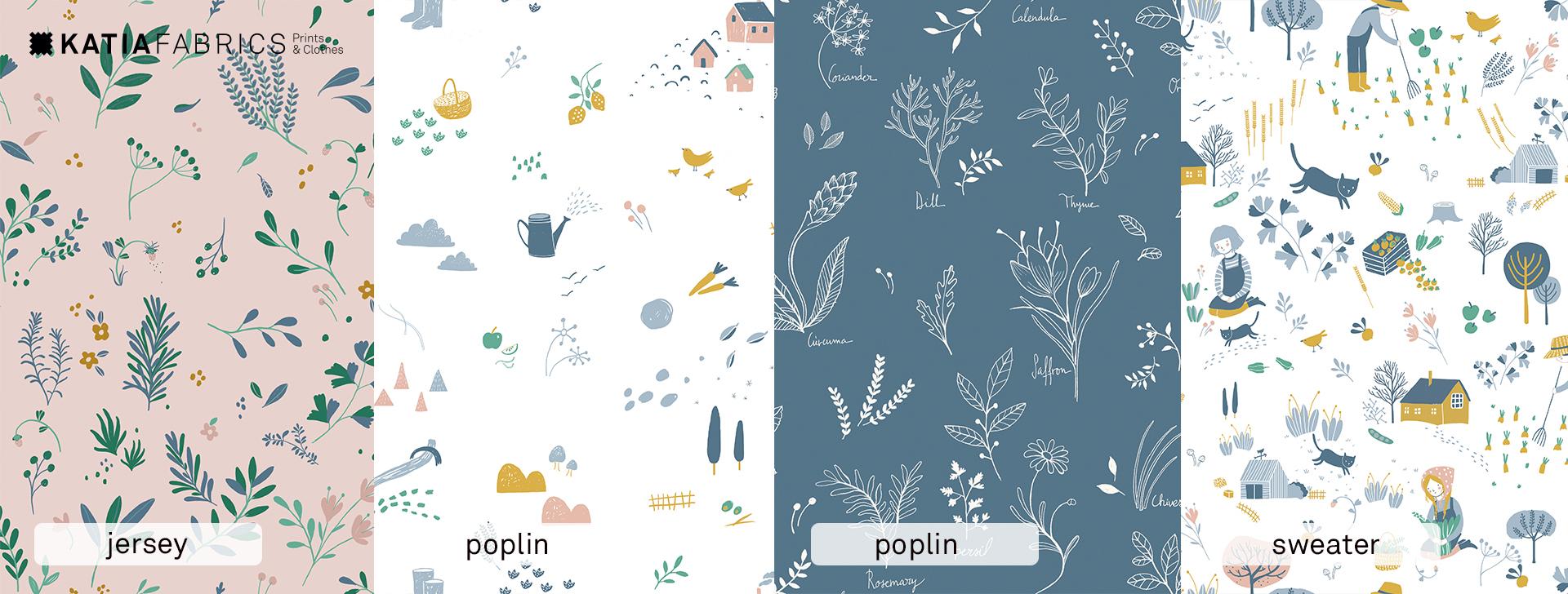 Katia Fabrics herfst/winter 2018/2019 stoffen en naaipatronen collectie