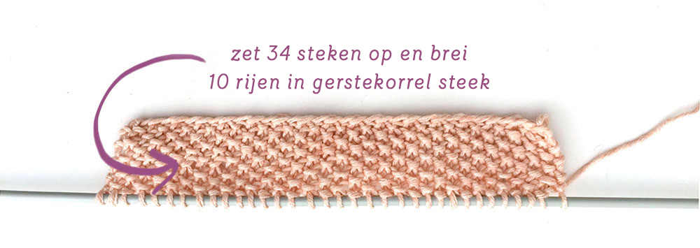 Kindertopje met ruches breien - breipatroon door Creative Atelier