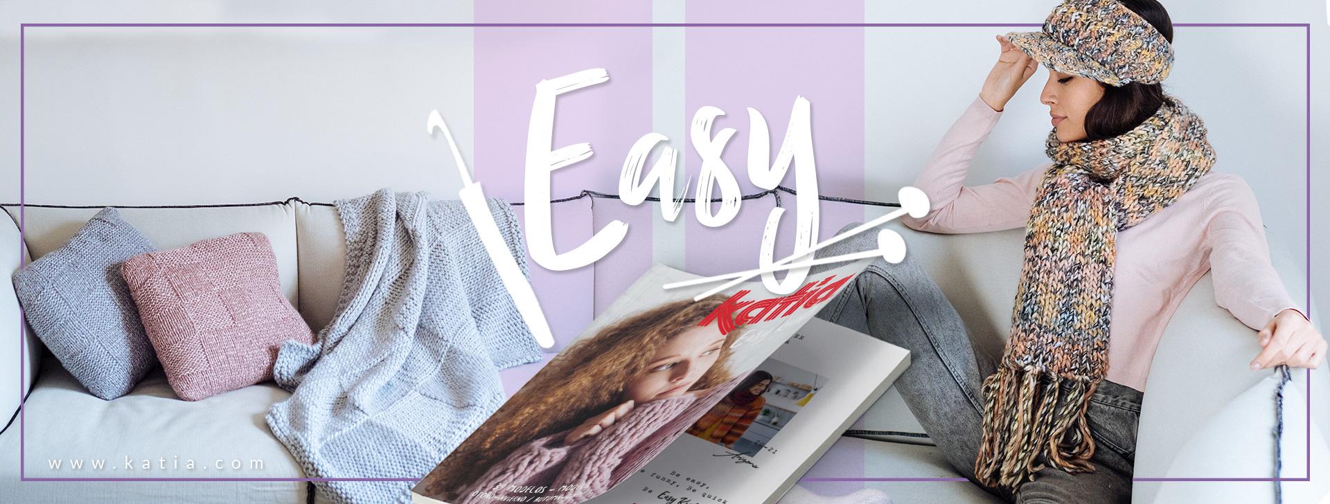 Leer breien en haken met het nieuwe Katia tijdschrift Easy Knits