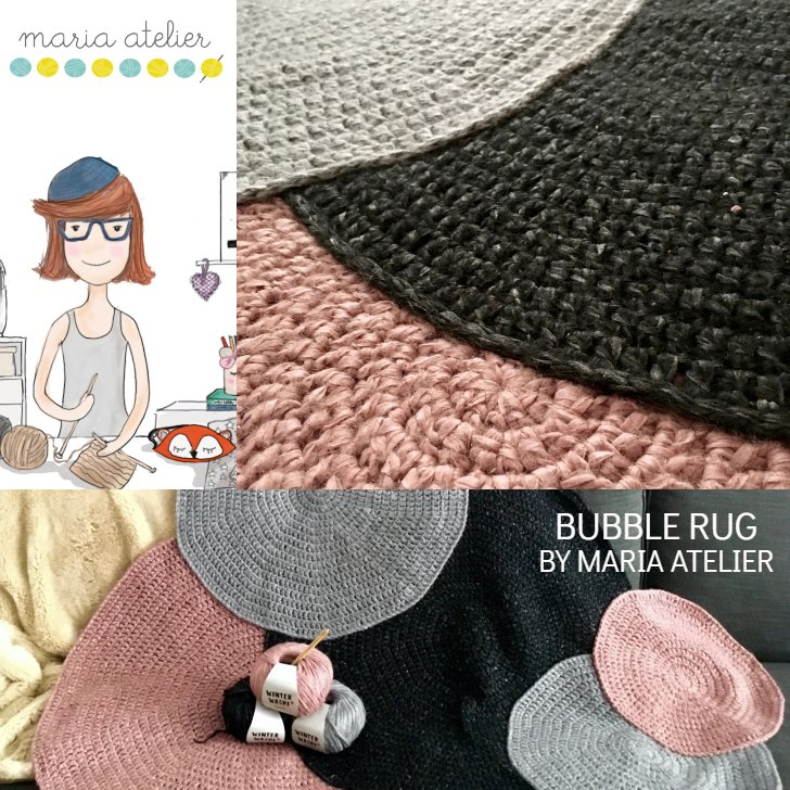 Bubbel vloerkleed - haakpatroon door Maria Atelier Craft Lovers Katia