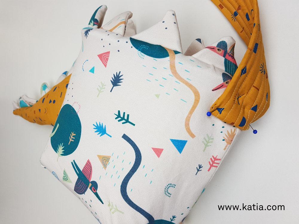 Dinosaurus snoeptas naaien - gratis naaipatroon en uitleg van Katia5
