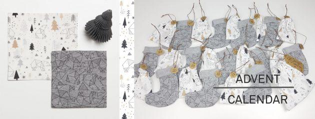 Adventskalender naaien - gratis kerst DIY tutorial