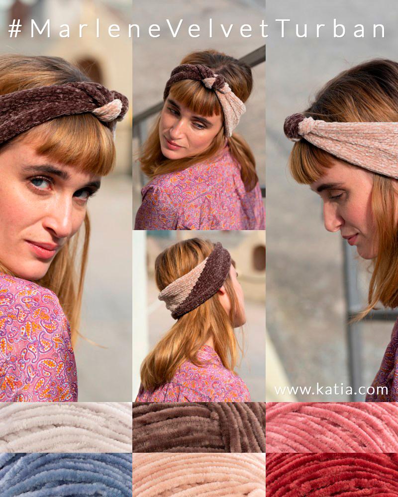 sorteo-teje-2019-100-NL - hoofdbanden breipatronen met velvet fluwelen garen