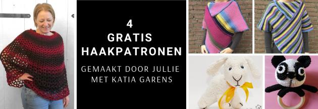 4 gratis haakpatronen gemaakt door jullie met Katia Garens