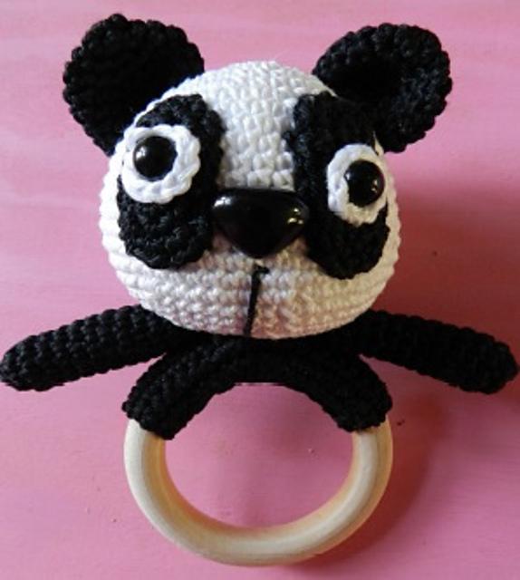 panda babyrink - gratis haakpatronen