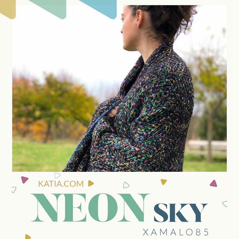 Neon Sky Deken Met Winter Washi Plus Gratis Breipatroon