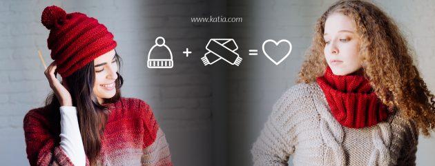 Wintermutsen en sjaals - breipatronen door Katia