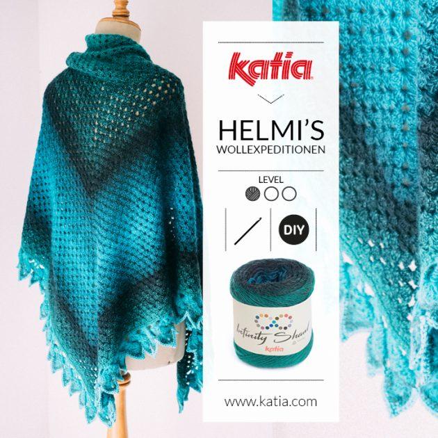 Driehoek sjaal haakpatroon: gratis omslagdoek