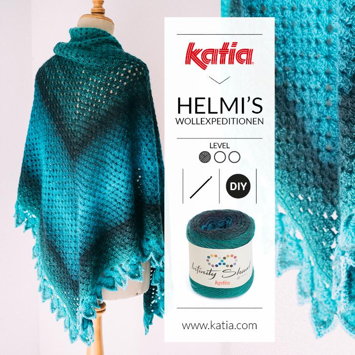 Wonderbaarlijk Driehoek sjaal door Helmi's Wollexpeditionen: gratis haakpatroon! ZC-38