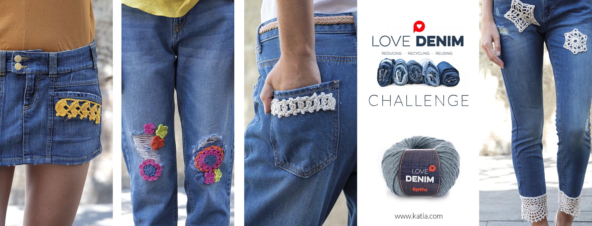 Love Denim Challenge - haakapplicaties om spijkerbroeken te pimpen
