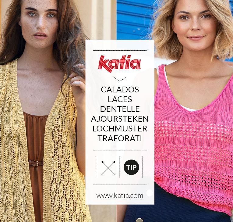 Leer kantbreien met deze 12 simpele ajour breipatronen van Katia garens
