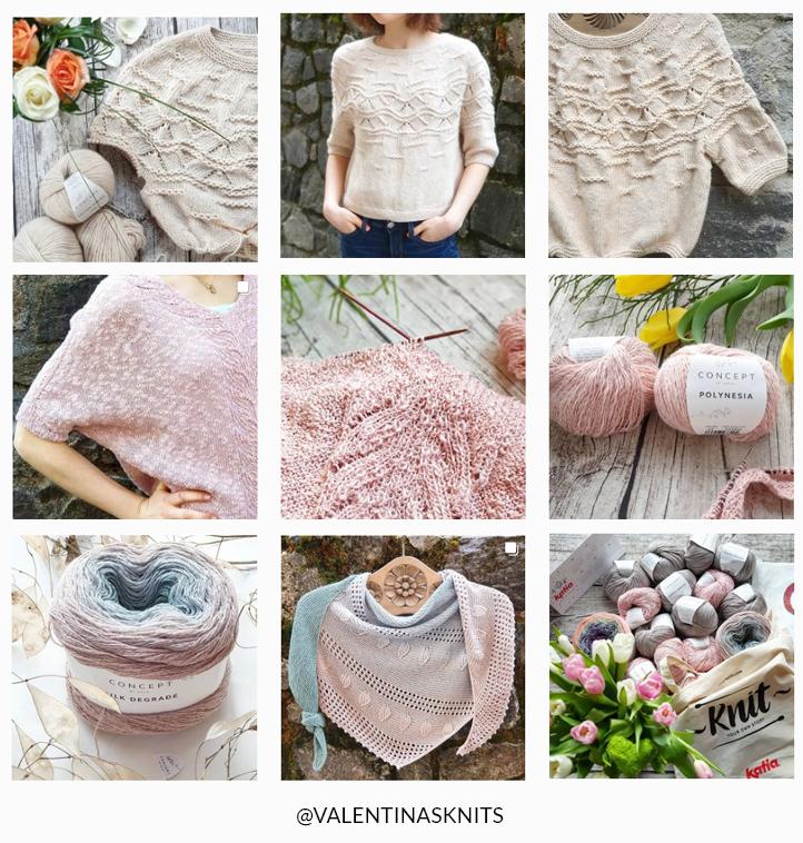Valentinasknits - ajour sjaal omslagdoek breien - gratis breipatroon