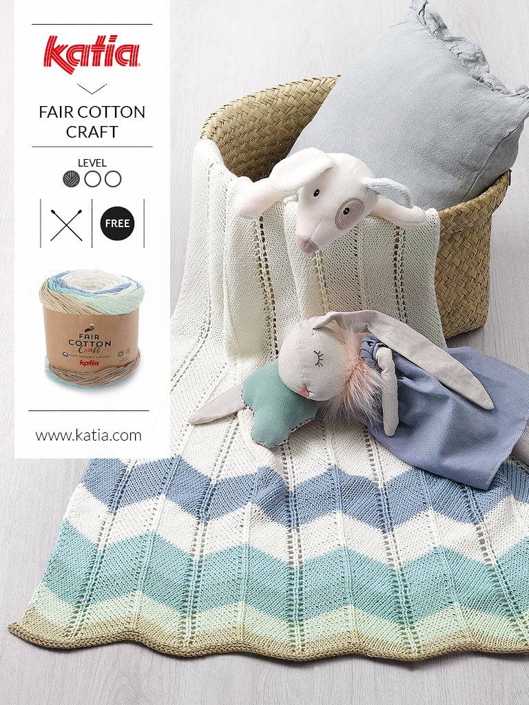 1 bol = 1 project - babydeken met Katia Fair Cotton.jpg