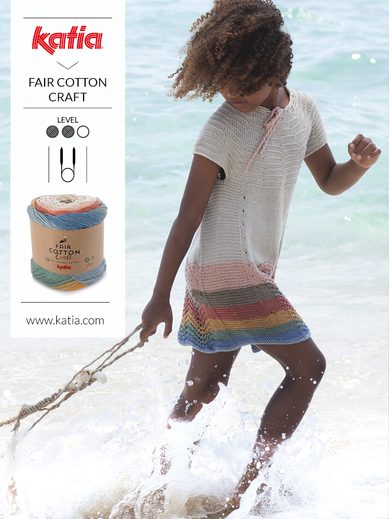1 bol = 1 project - kinderjurk met Katia Fair Cotton
