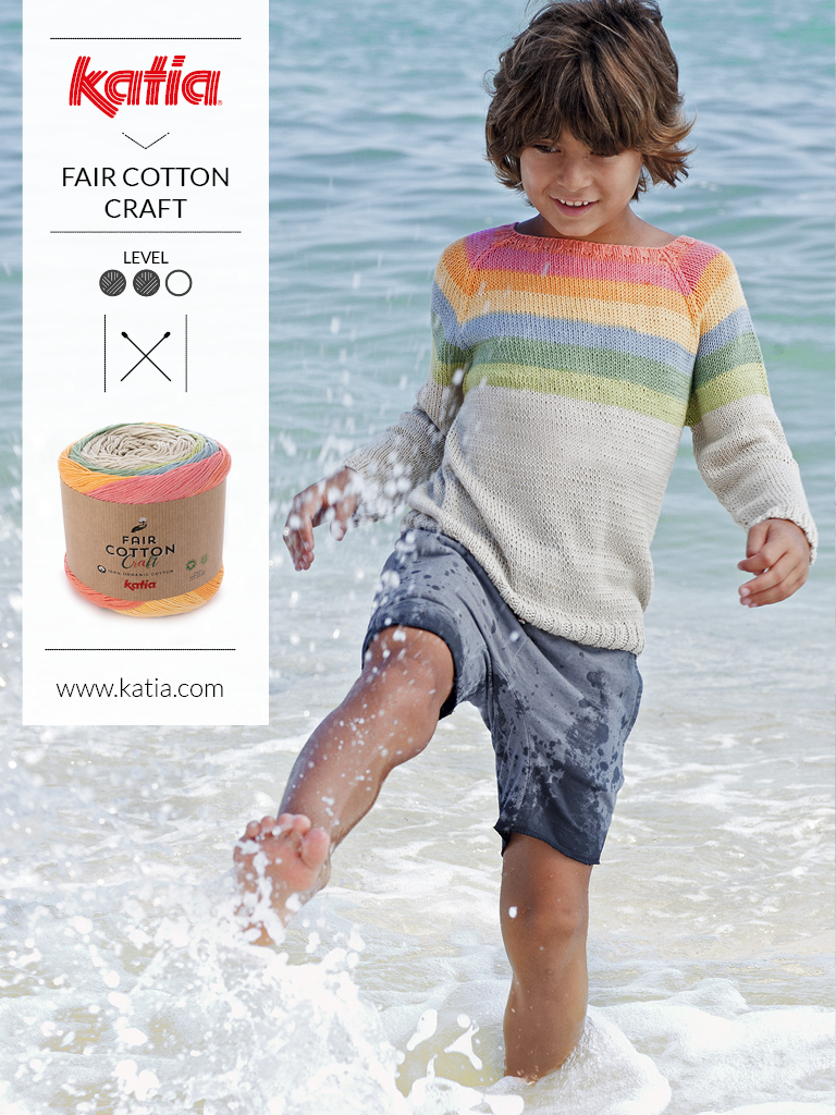 1 bol = 1 project - kindertrui met Katia Fair Cotton
