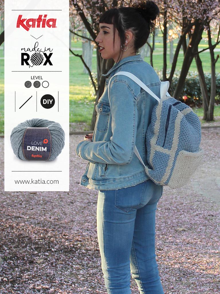 DenimBag - gehaakte rugzak door MadeinRox