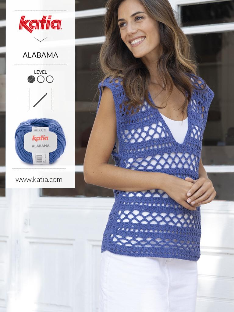 10 eenvoudige gehaakte topjes voor dames - alabama topje