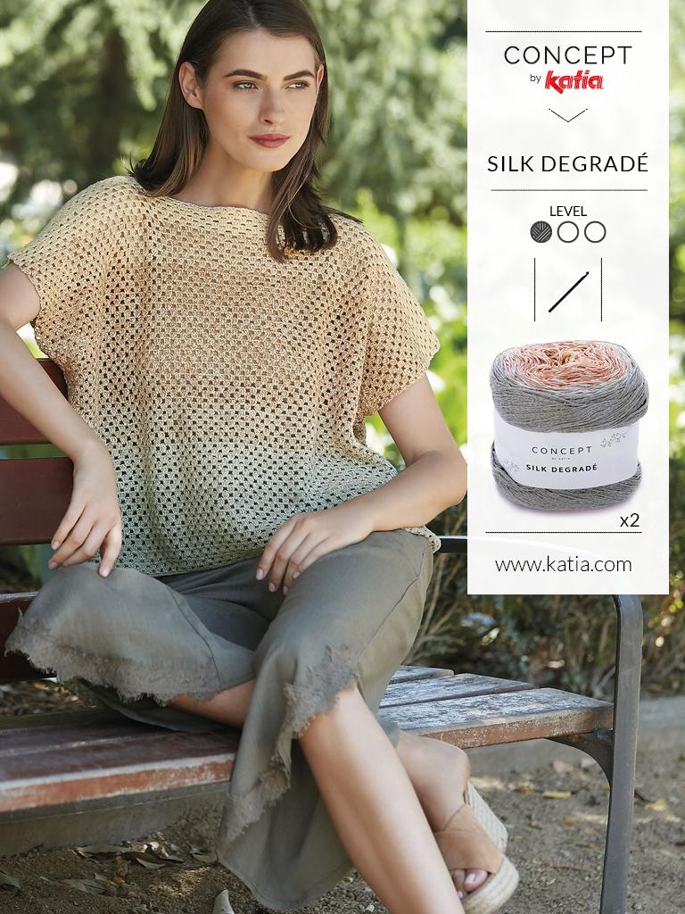 10 eenvoudige gehaakte topjes voor dames - silk degrade