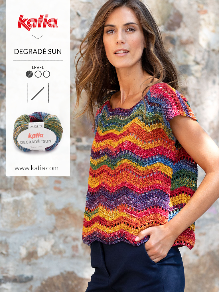10 eenvoudige gehaakte topjes voor dames- zigzagsteek shirtje