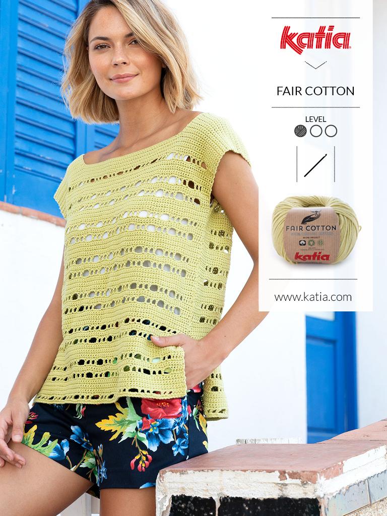 10 eenvoudige gehaakte topjes voor dames - zomers topje fair cotton