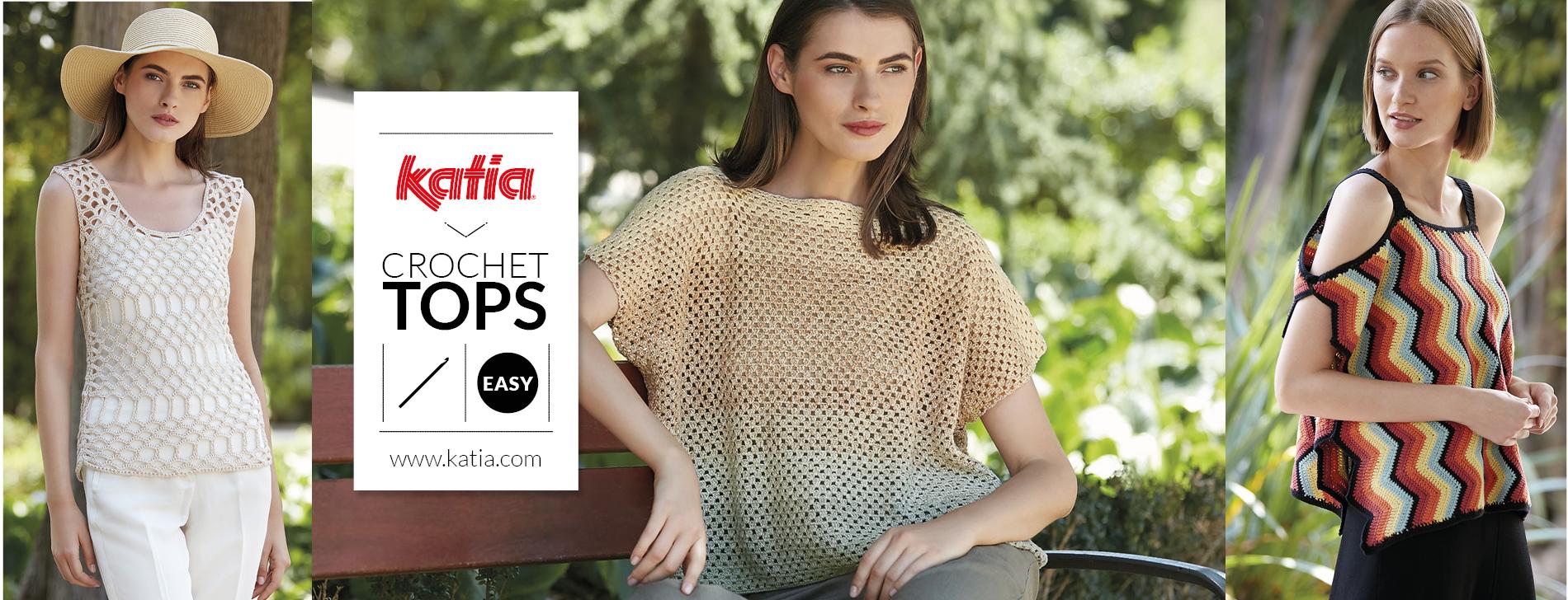 10 eenvoudige gehaakte topjes voor dames