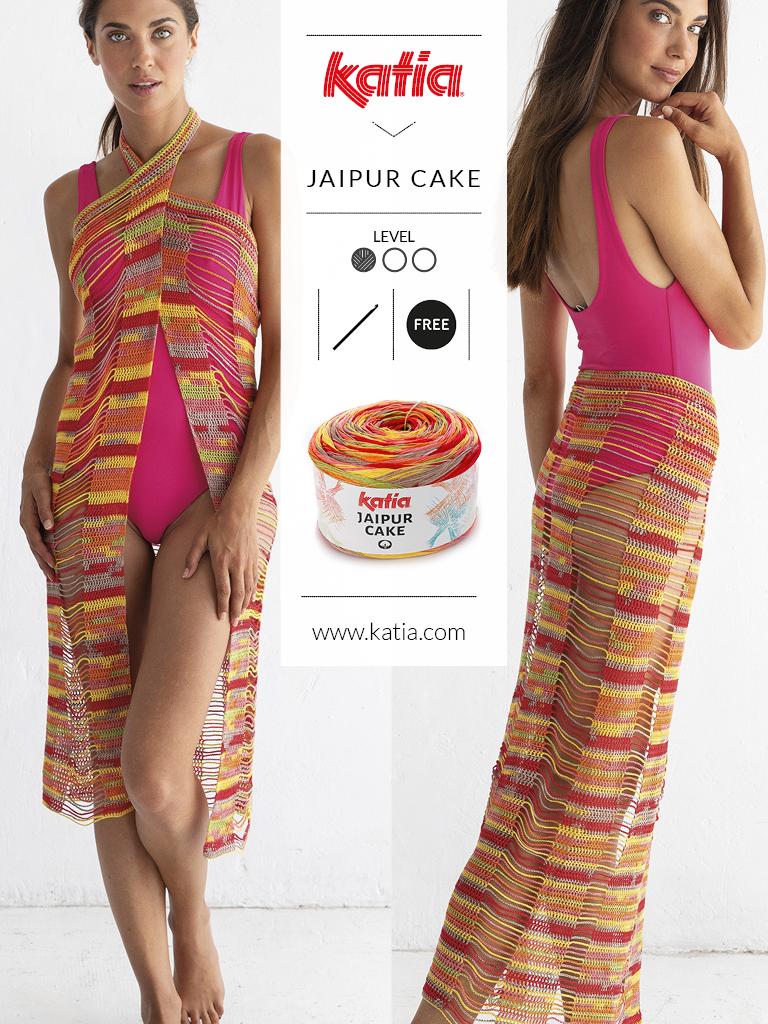 10 gratis zomerse haak- en breipatronen voor dames - beach cover Jaipur Cake
