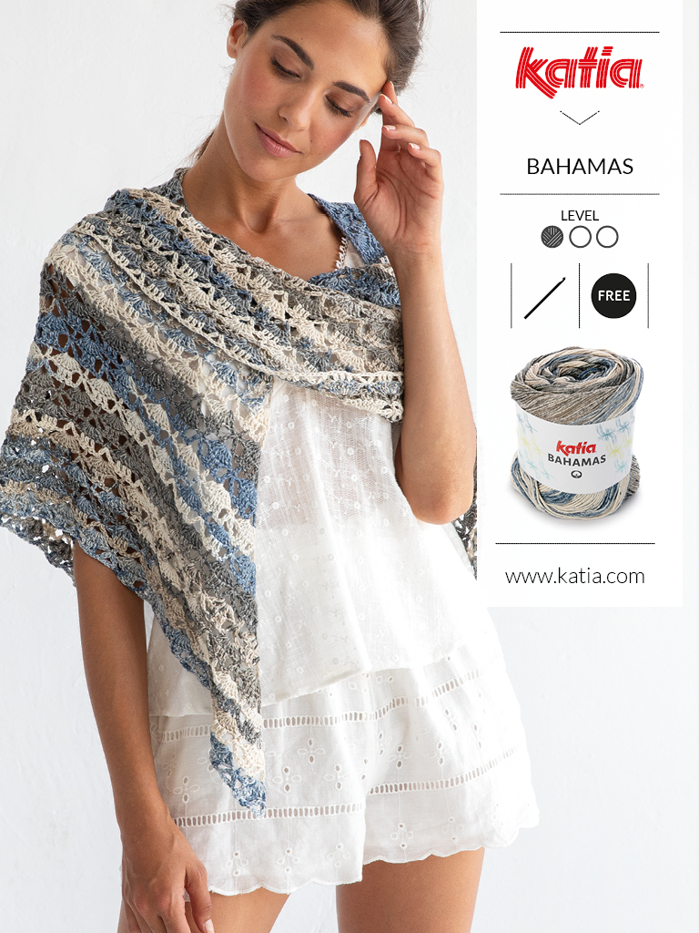 10 gratis zomerse haak- en breipatronen voor dames - gehaakte omslagdoek Bahamas