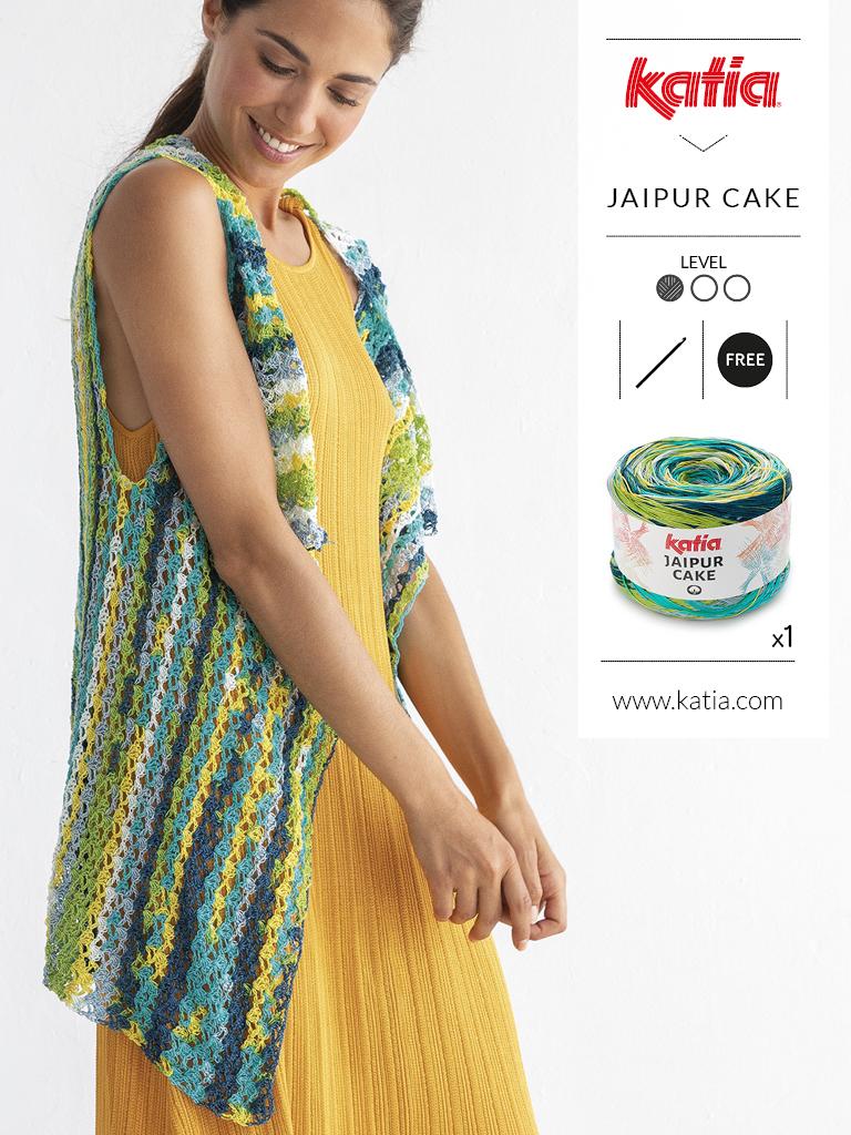 10 gratis zomerse haak- en breipatronen voor dames - jaipur cake vestje