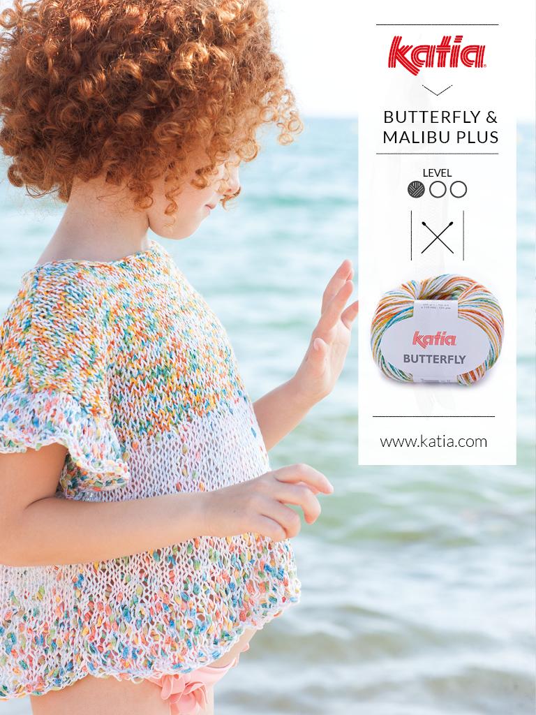 gebreide en gehaakte kindermode trends zomer 2019 butterfly en malibu plus