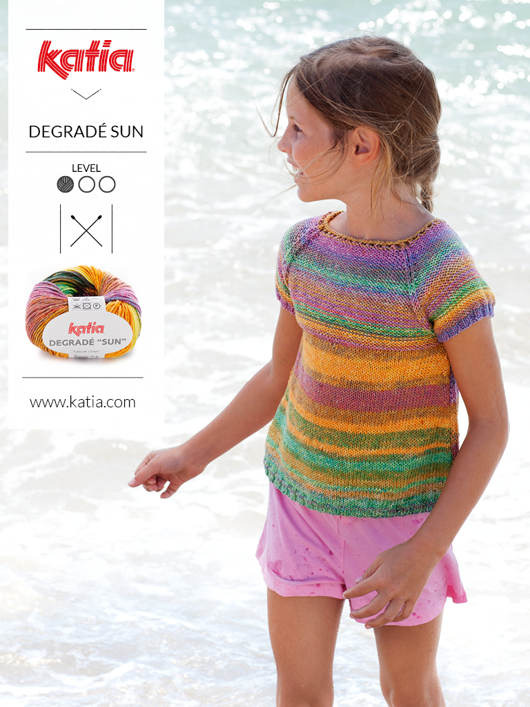 gebreide en gehaakte kindermode trends zomer degrade sun