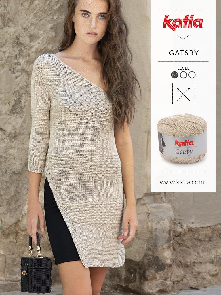 Gebreide zomertop jurk Katia Gatsby