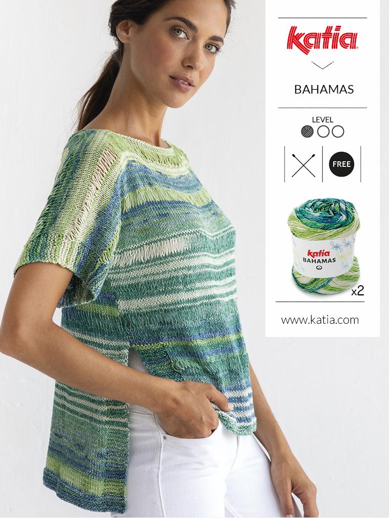 gratis breipatroon Katia Bahamas - dames trui