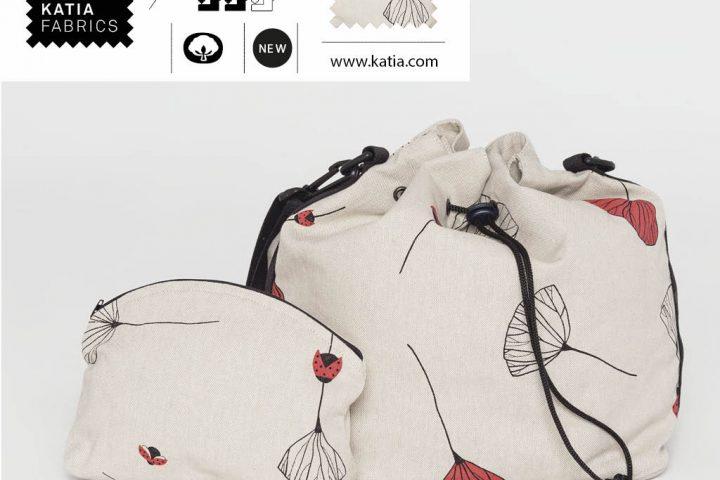 Leer een ronde tas plunjezak naaien met Katia Fabrics Canvasstoffen