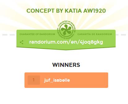 Giveaway winner Katia