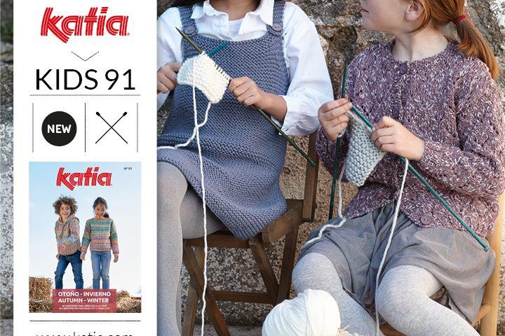 4 gebreide kindermode trends die je eenvoudig kan breien dankzij Katia tijdschrift Kids 91