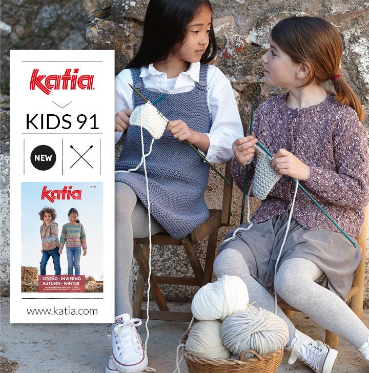 4 kindermode trends die je eenvoudig kan breien dankzij Katia tijdschrift Kids 91