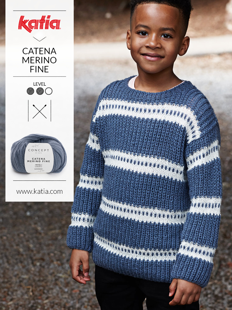 4 kindermode breitrends die je eenvoudig kan breien dankzij Katia tijdschrift Kids 91
