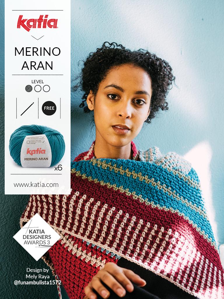 Merino Aran Crochet Shawl