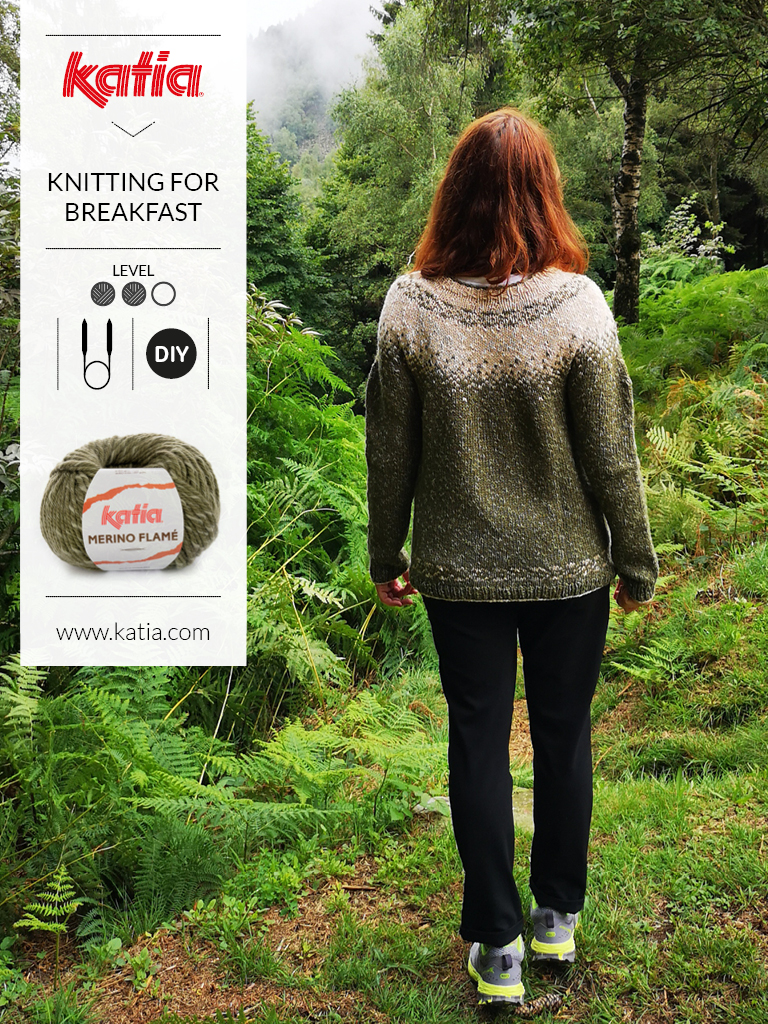 Gebreide jacquard trui door Knitting For Breakfast - gratis breipatroon