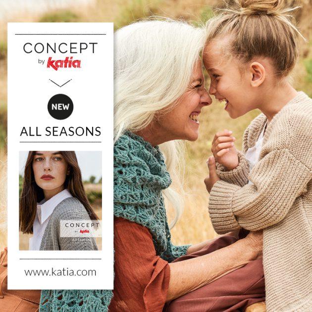 Katia All Seasons tijdschrift: 24 breipatronen die het hele jaar gedragen kunnen worden