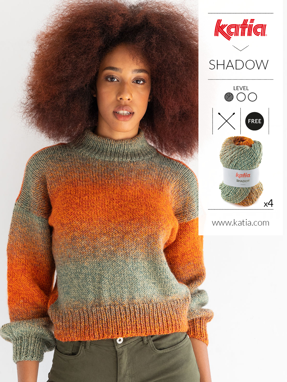 Handgemaakte trui voor beginners met Katia Shadow