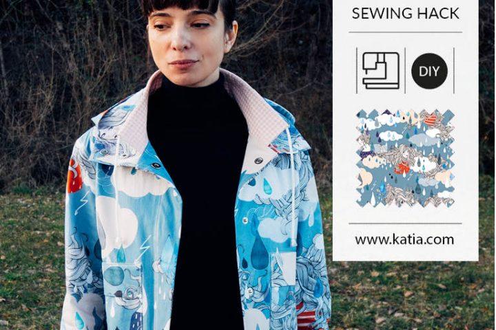 Leer een waterproof regenjas naaien met Katia Fabrics