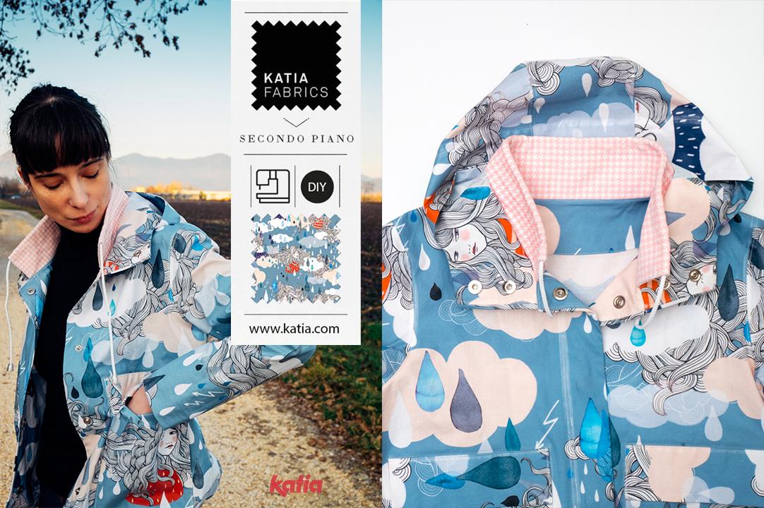 Leer een waterproof jas naaien met Katia Fabrics