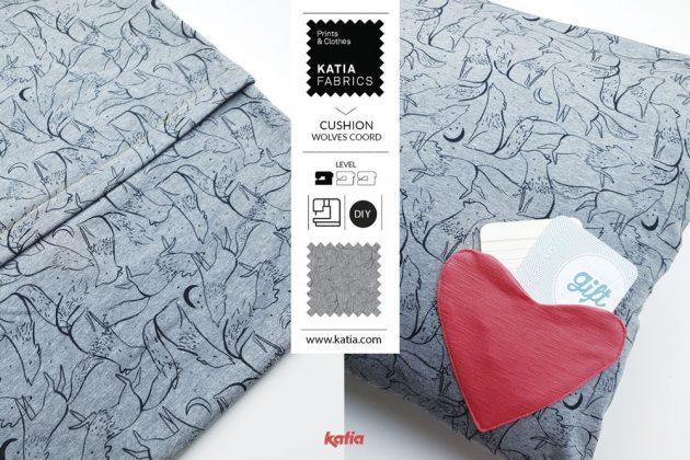 Liefdesbrief kussen naaien - tutorial Katia Fabrics