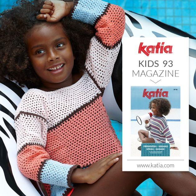 Eenvoudige haakpatronen voor kinderen in Katia tijdschrift Kinderen 93