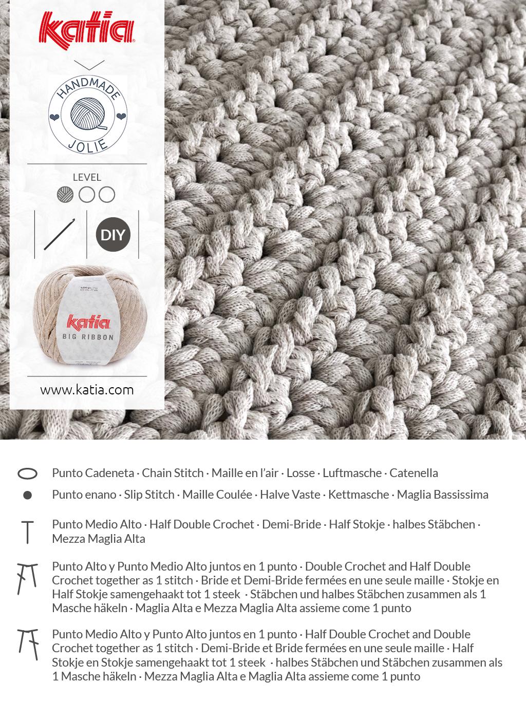 Gehaakt vloerkussen met Katia Big Ribbon door Handmadejolie