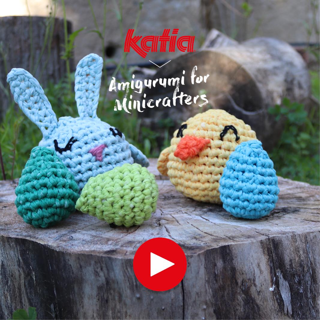 Amigurumi voor kinderen - paashaas, kuiken en paasei haken voor Pasen