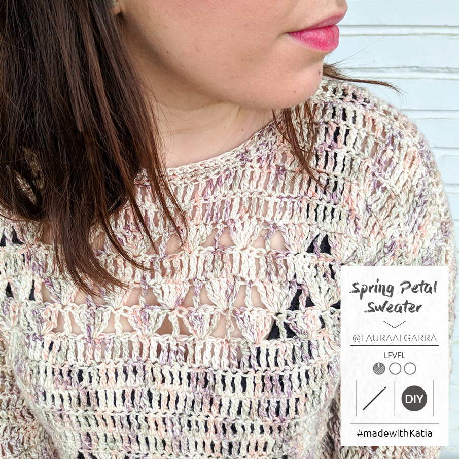 Spring Petal Trui door Laura Algarra - haakpatroon met Katia Boheme