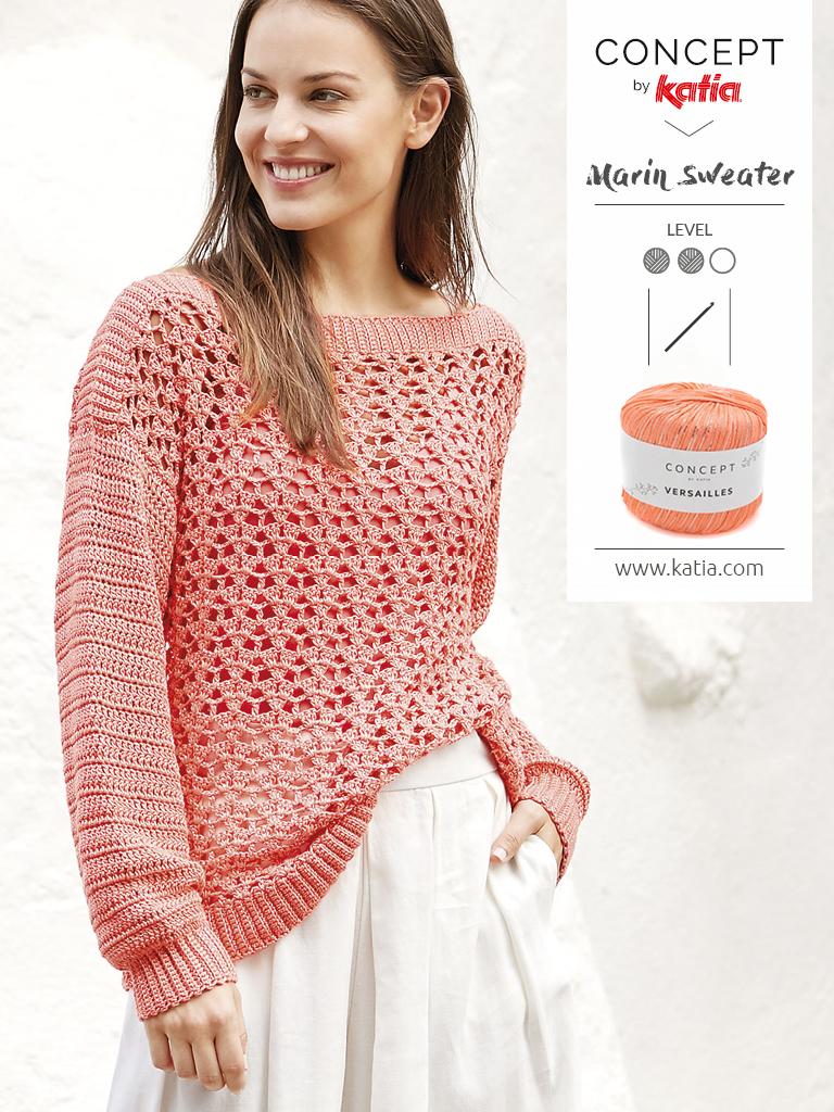 kantpatronen Concept by Katia - gehaakte trui met lange mouw