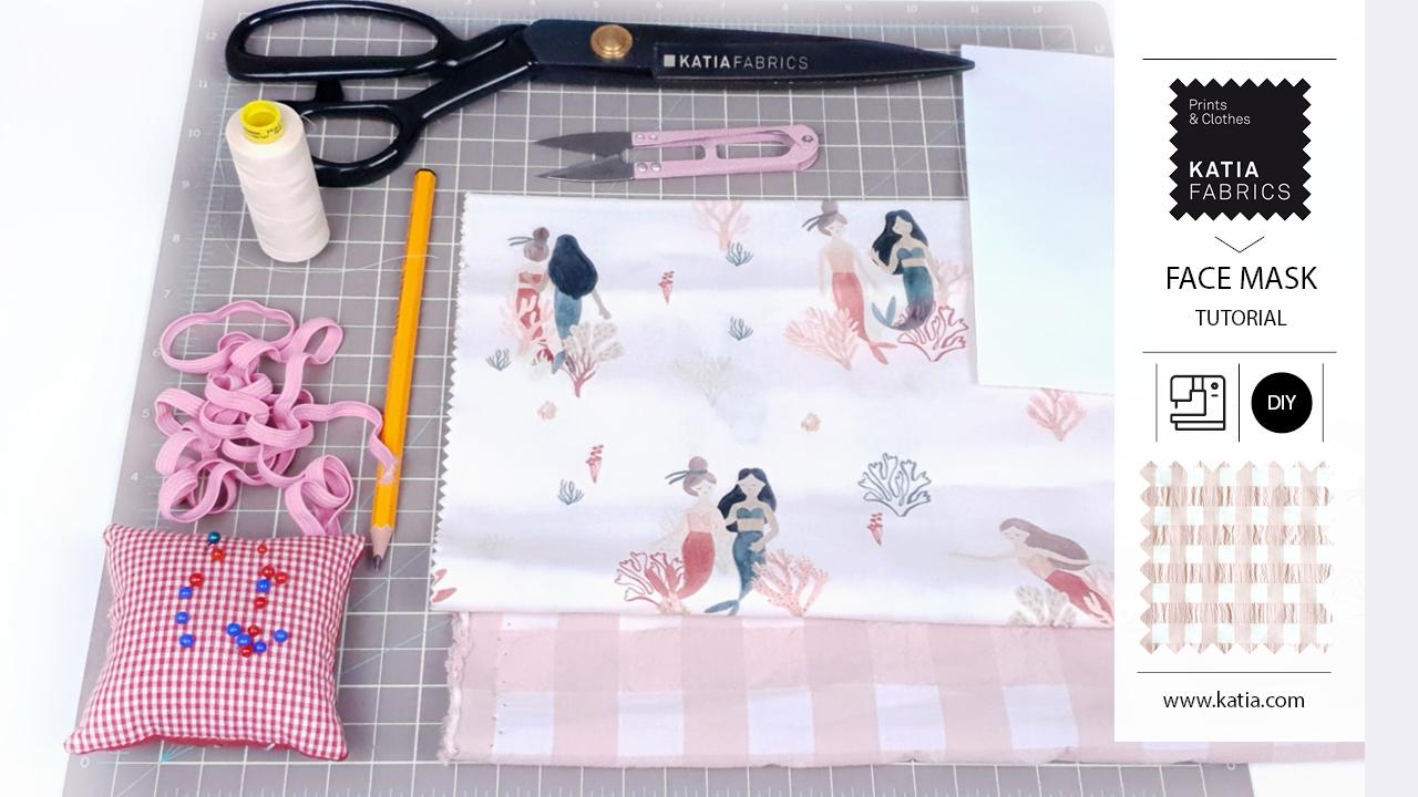 mondkapje naaien van stof met Katia Fabrics - makkelijk en snel